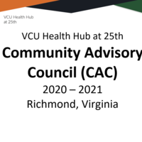 VCU Health Hub at 25th CAC Binder