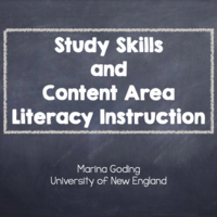 Study Skills & Content Area Literacy Instruction