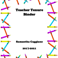 Teaching Tenure Binder