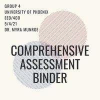 Comprehensive Assessments Binder