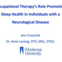 Occupational Therapy's Role in Promoting Sleep Health in Individ