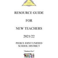 Pierce JUSD New Teacher Handbook