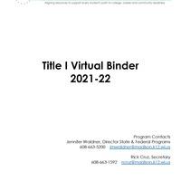 Title I Virtual Binder FY2022