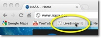 LiveBinder It button in browser
