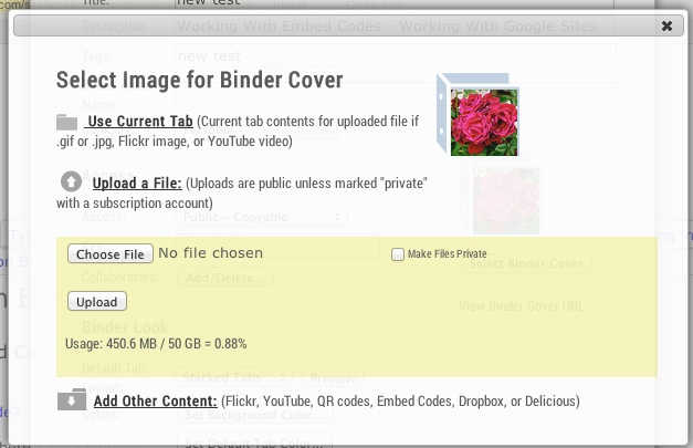 screenshot of 'File Upload'