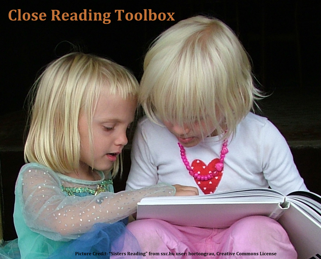 Go to this web site:  Close Reading Toolbox
