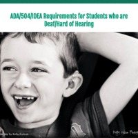 ADA/504/IDEA Requirements for DHH Students
