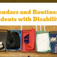 Calendars and Routines for Students with Disabilities