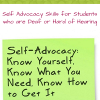 Self Advocacy Skills for Students who are DHH