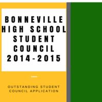 Bonneville High School Outstanding Student Council Application 2