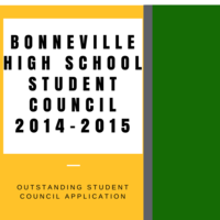 Bonneville High School Outstanding Student Council Application 2