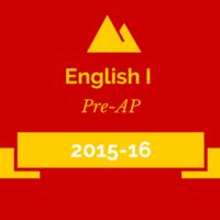 2015-16 English I Pre-AP