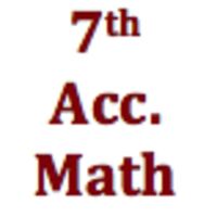7th Grade Accelerated Mathematics Curriculum