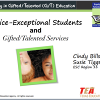 Equity in Gifted/Talented: Twice Exceptional Students