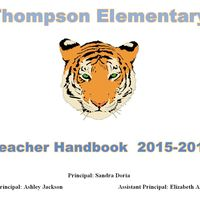 Evelyn S. Thompson Elementary 15-16 Handbook