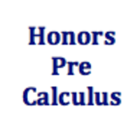 Honors PreCalculus Curriculum