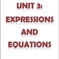 6th Grade Unit 3: Expressions andEquations