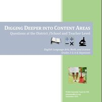Digging Deeper Into Content Areas