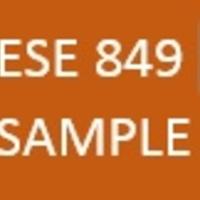 ESE 849 EKU Sample