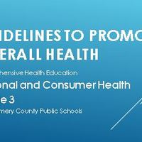 Guidelines to Promote Overall Health