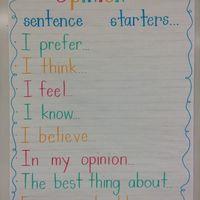 1st Grade Persuasive Writing