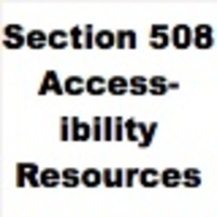 Section 508 Accessibility Resources