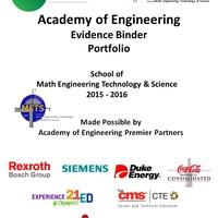 NAF 2015-16 AoE Evidence Binder (School of Math Engineering Tech