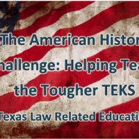 The American History Challenge: Helping Teach the Tougher TEKS