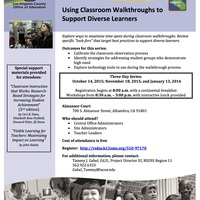 Using Classroom Walkthroughs to Support Diverse Learners