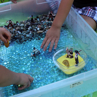 Adapted Books and Sensory Bins