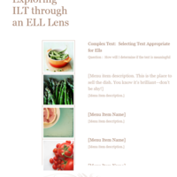 Exploring ILT through an ELL Lens