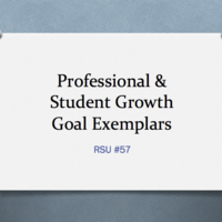 Professional & Student Growth Goal Exemplars