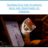 Telepractice for Students who are Deaf/Hard of Hearing