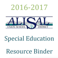 AUSD Special Education Resource Binder 2016 - 2017