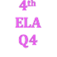 4th Grade English Language Arts Q4 Curriculum