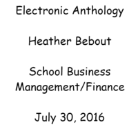 Heather Bebout - SCHOOL BUS MGMT/FINANCE