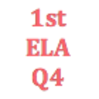 1st Grade English Language Arts Q4 Curriculum