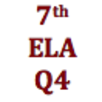 7th Grade English Language Arts Q4 Curriculum