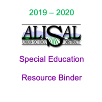 AUSD Special Education Resource Binder 2019 - 2020