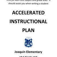Joaquin Elementary ACCELERATED INSTRUCTIONAL PLAN