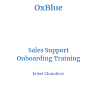 Sales Training: Sales Support (Core/Ent)