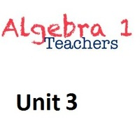 Common Core Algebra 1 Unit 3 Modeling Linear Data