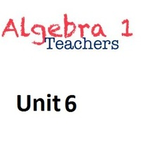 Common Core Algebra 1 Unit 6 Systems of Linear Equations and Ine