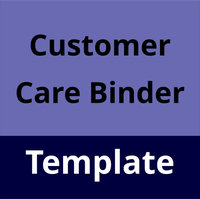 Customer Care Binder Template