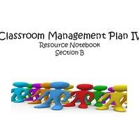 Classroom Management Plan IV