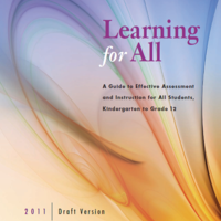 HCDSB Learning For All, 2011