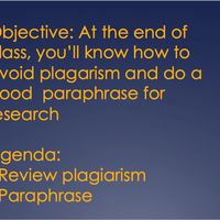 Plagiarism, Intext Citations, and Notetaking ProfDev