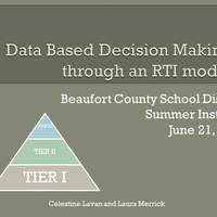 Data Based Decision Making through an RTI Model