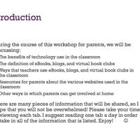 Parents- Integrating Children's Literature & New Media Literacie