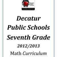 DPS61 Seventh Grade Math Common Core Curriculum